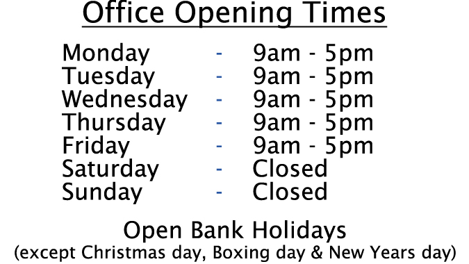 Cold Store Opening times